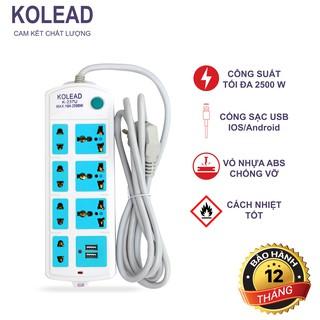 Ổ cắm điện đa năng Kolead Có USB Dây 2m – Bảo Hành Chính Hãng