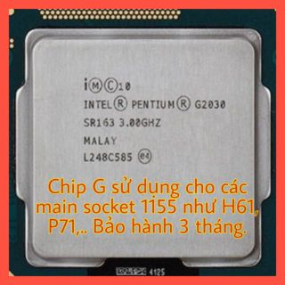 Chip CPU G2030 G2020 G2010 dùng lắp main socket 1155 H61, B75, P61, P75,.. thumbnail