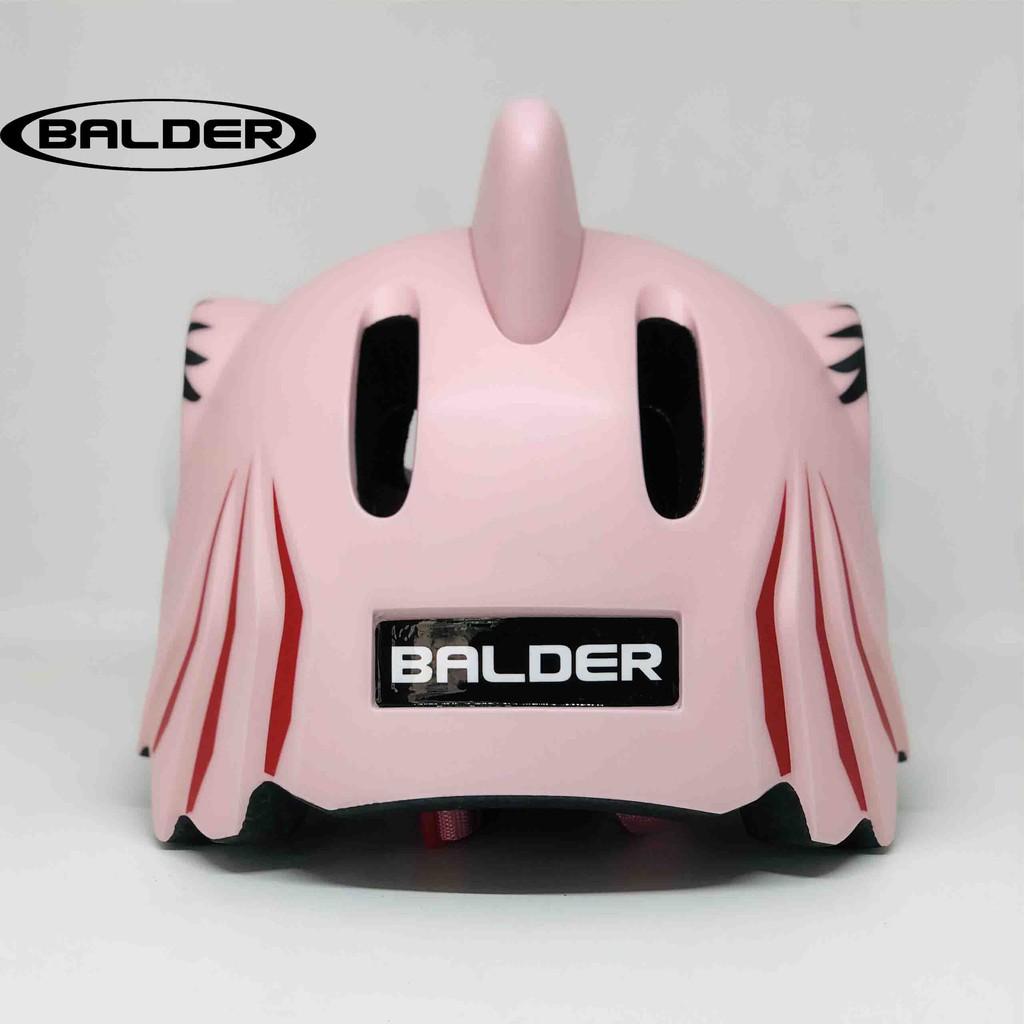 Nón bảo hiểm xe đạp thể thao BALDER SHARK PINK trẻ em cao cấp có đèn led