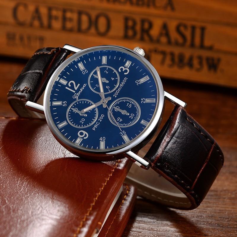 (Giá sỉ) đồng hồ thời trang Geneva nam dây da JA291