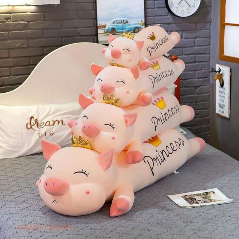 Gấu bông lợn thiên thần vương miện