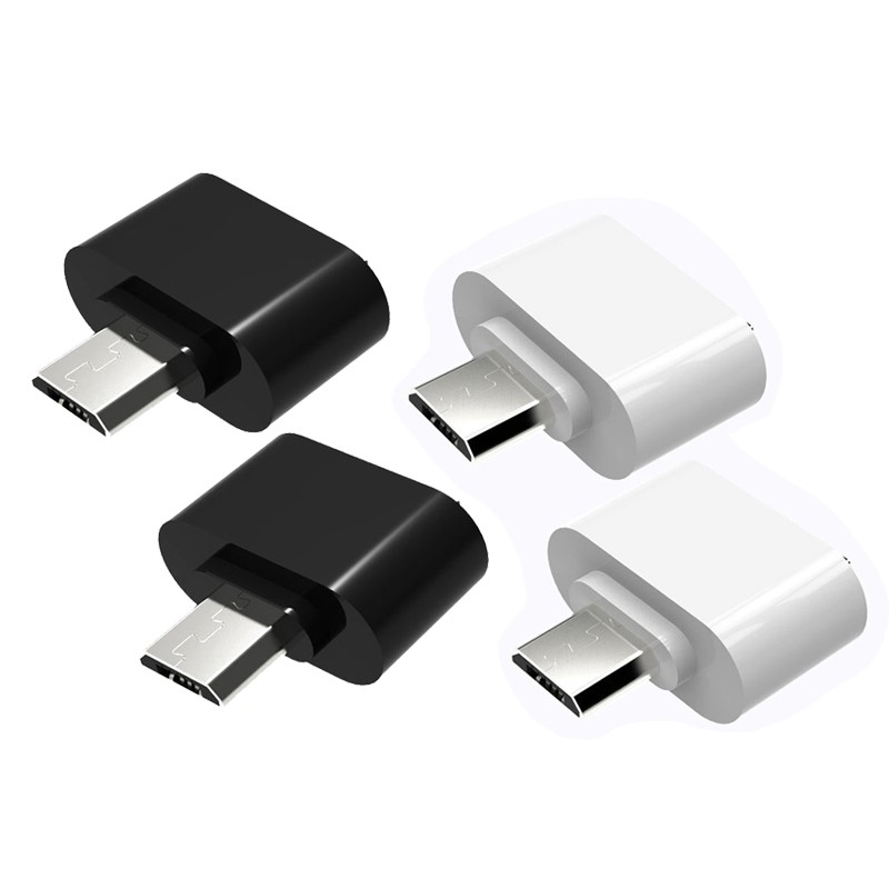 2PCS Micro-USB Male to USB 2.0 OTG Adapter Converter For Android Tablet Phone, Black