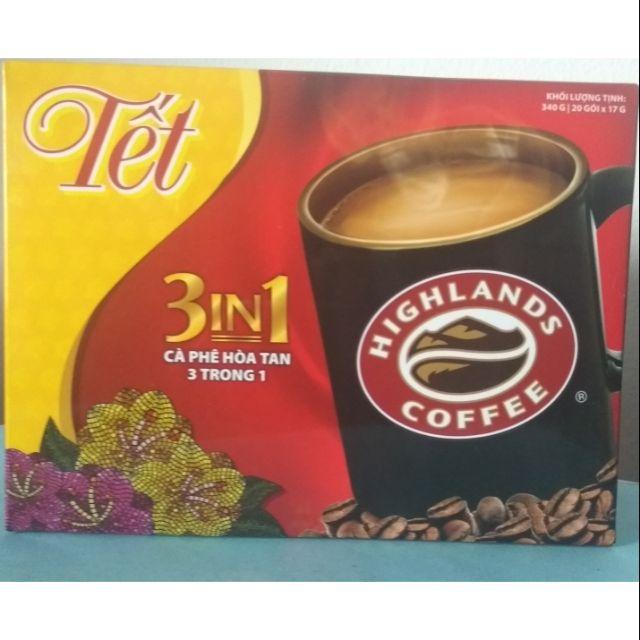 Cà phê hòa tan Highlands Coffee 3in1 | 20gói × 17g