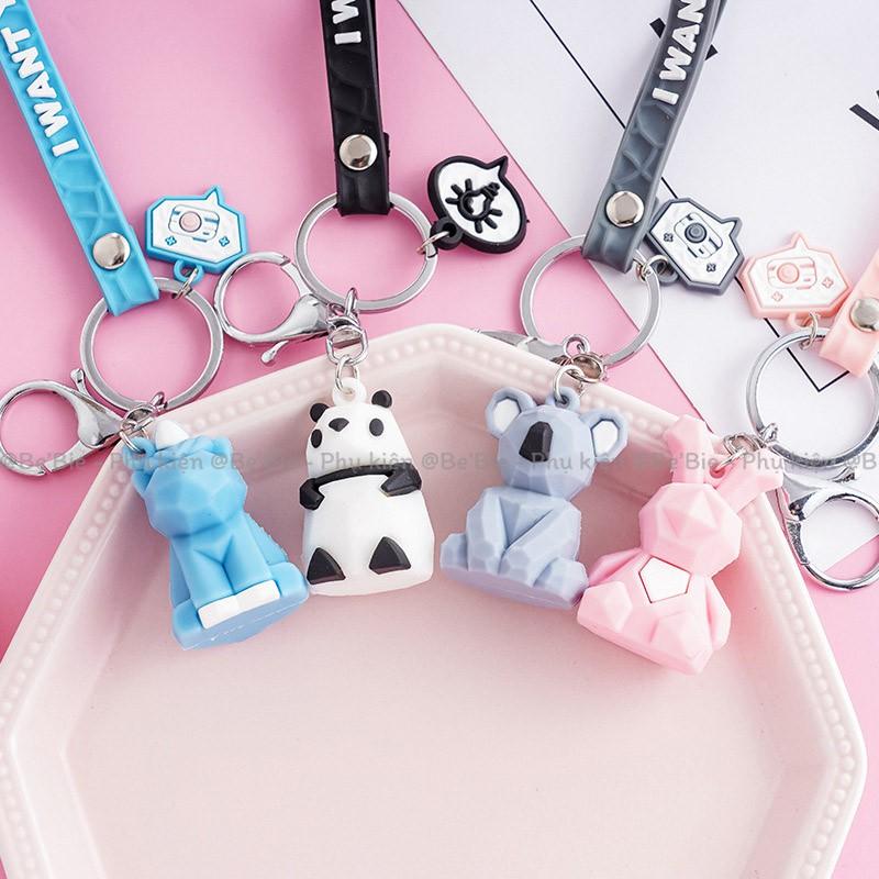 [BP149] Móc khóa nhựa hình thú cute - BeBie Phụ kiện cưng