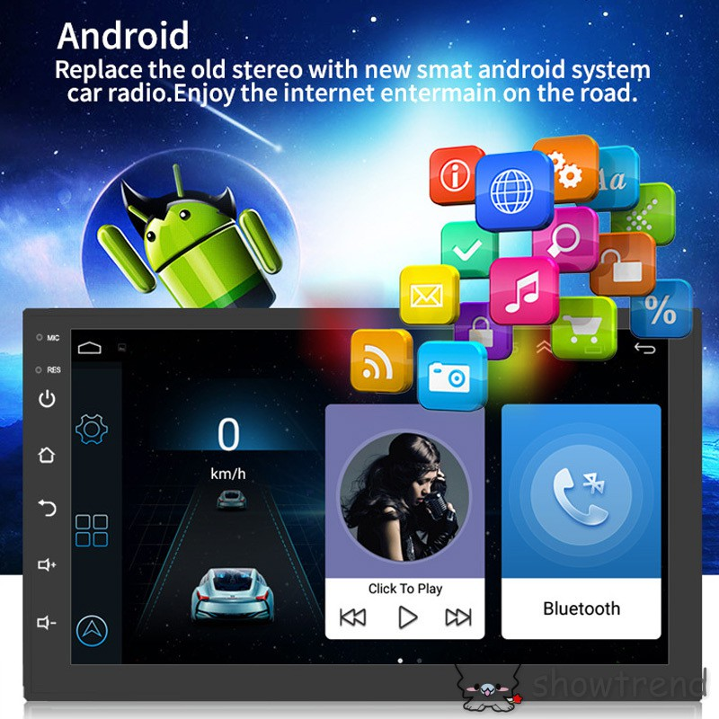 Android 8 1 GPS Navigation Car Stereo Radio Double Din 7