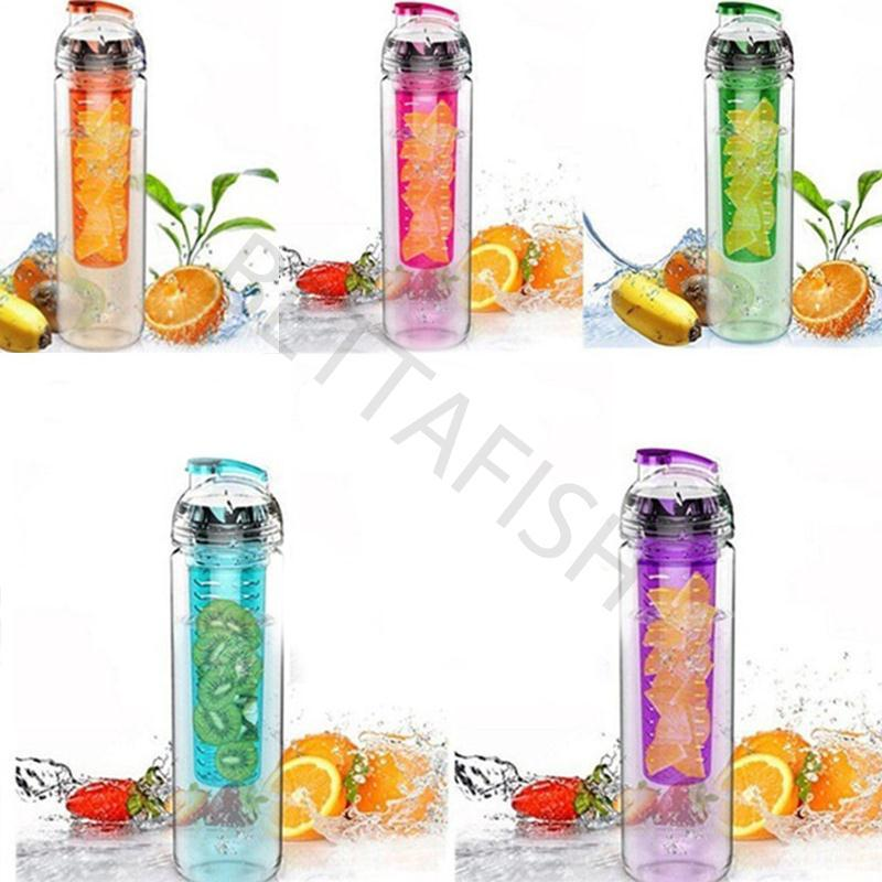Plastic Fruit Infusing Water Bottle Juice Maker Cycling Outdoor Travel Cup 900ML