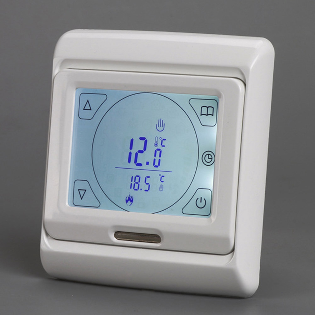 LCD Room Touch Screen Electric Home Temperature Sensor Weekly Floor Programmable Warming Digital Heating Thermostat