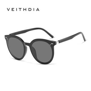 Kính mát nữ VEITHDIA 8520 phân cực màu đen mờ phong cách photochromic