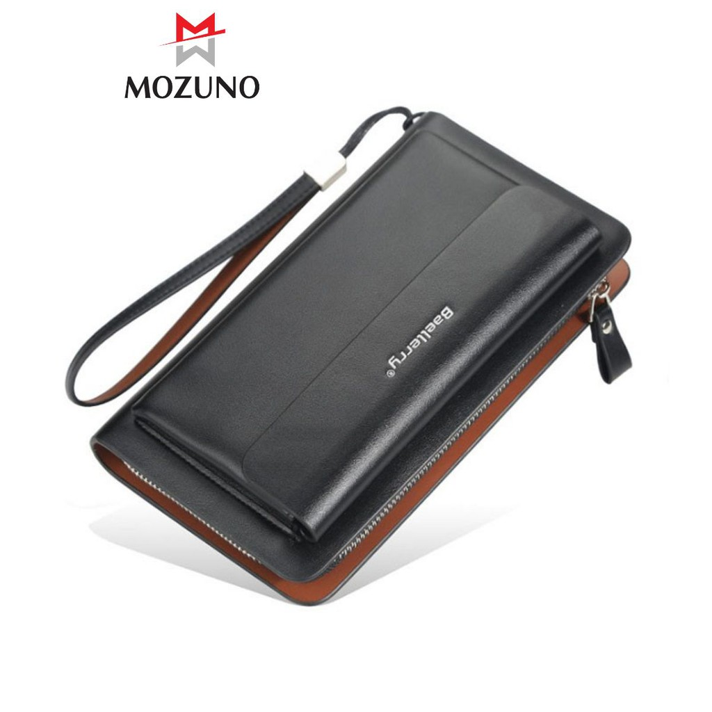 Ví Bóp Dài Cầm Tay Chính Hãng BAELLERRY Nhiều Ngăn Đựng Tiền Đựng Thẻ Cao Cấp Siêu Đẹp BR28 - Mozuno
