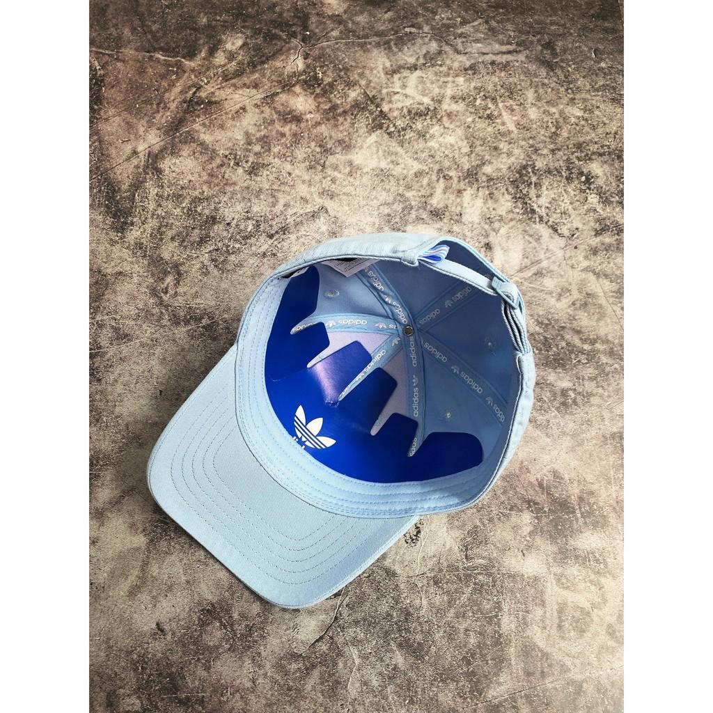 (HÀNG XUẤT XỊN) Mũ / Nón das xanh logo trắng Trefoil Logo Baseball Cap / Clear Sky Made in Thailand full tag code