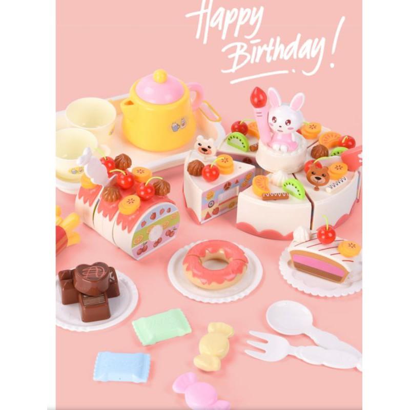 Bộ đồ chơi bánh sinh nhật 85 chi tiết có đèn nhạc cho bé