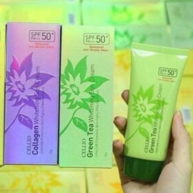 Kem chống nắng Cellio Whitening Sun Cream SPF50 PA+++ Dung tích: 70g