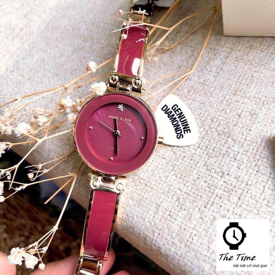( Sẵn 5 màu ) Đồng hồ kiềng đá ceramic dành cho nữ ANNE KLEIN #AK1980 .case 34mm. 3atm