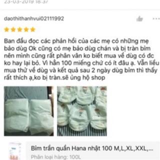 Bỉm Quần Hana 100 M 100L 100XL 100XXL 100XXXL thumbnail