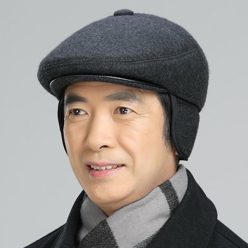 Nón nồi, Mũ beret nam trung niên chất vải Nỉ Dạ cao cấp