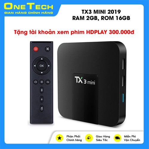 Android Box TX3 Mini 2019, Ram 2GB, Rom 16GB