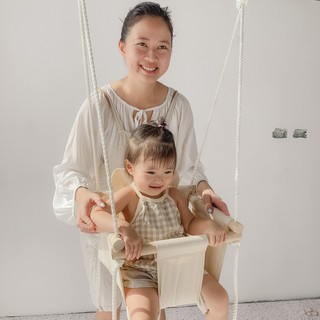 Xích đu vải kiểu dáng Hàn Quốc handmade bởi mẹ Sia
