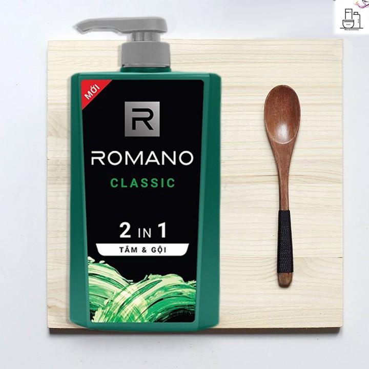 Tắm gội 2 in 1 Romano Classic 650g