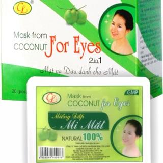 Mặt nạ dừa Cửu Long 2 in 1 công nghệ sinh học giảm thâm quầng bọng mắt chống lão hoá thumbnail