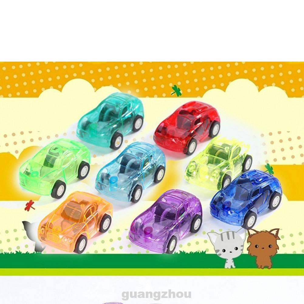 10pcs Mini Pull Back Wind Up Cartoon Kids Children Bus Gifts Plastic Random Color