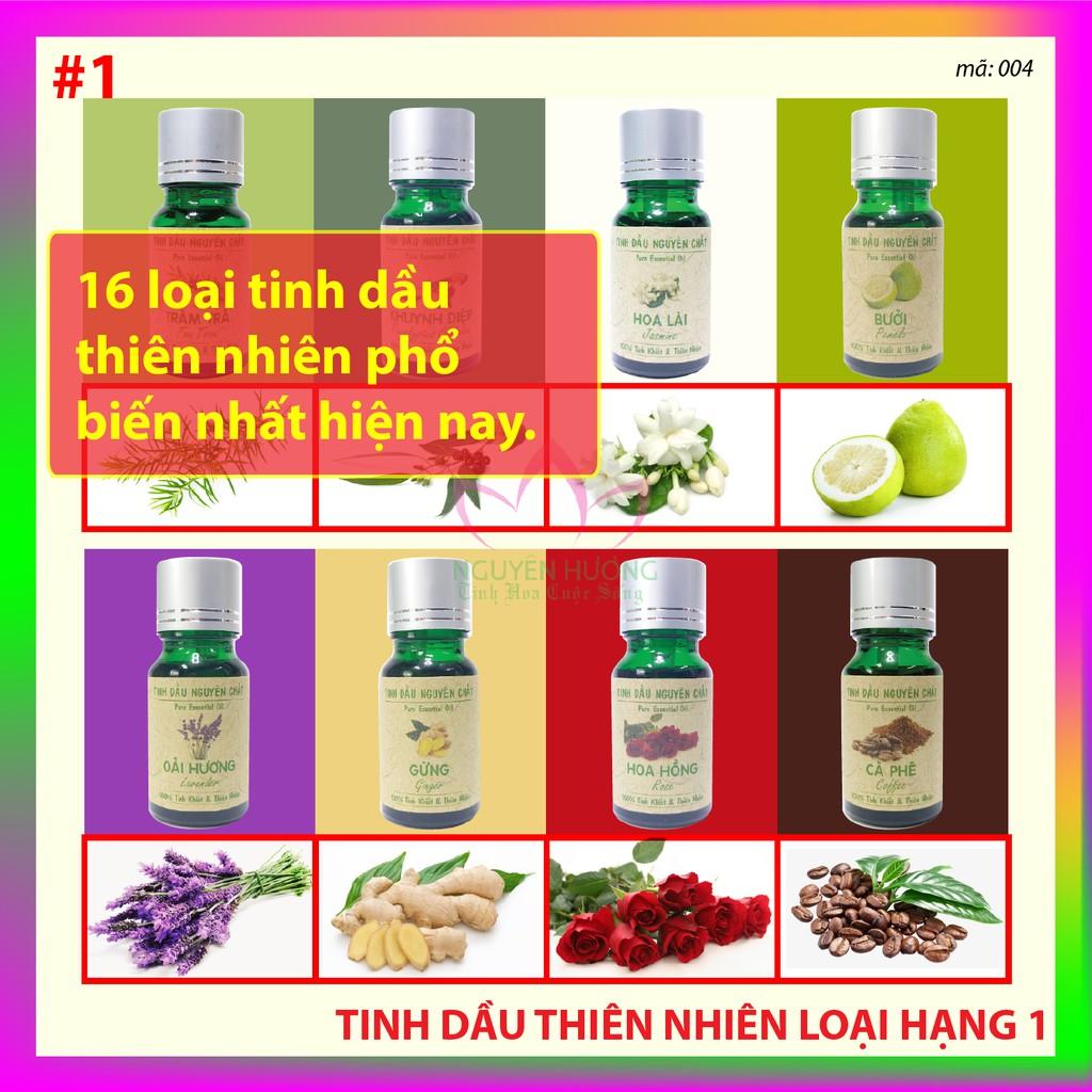 Tinh Dầu Nguyên Hương Thiên Nhiên 10ml / Xông thơm phòng, đuổi muỗi, treo xe / Có kiểm định