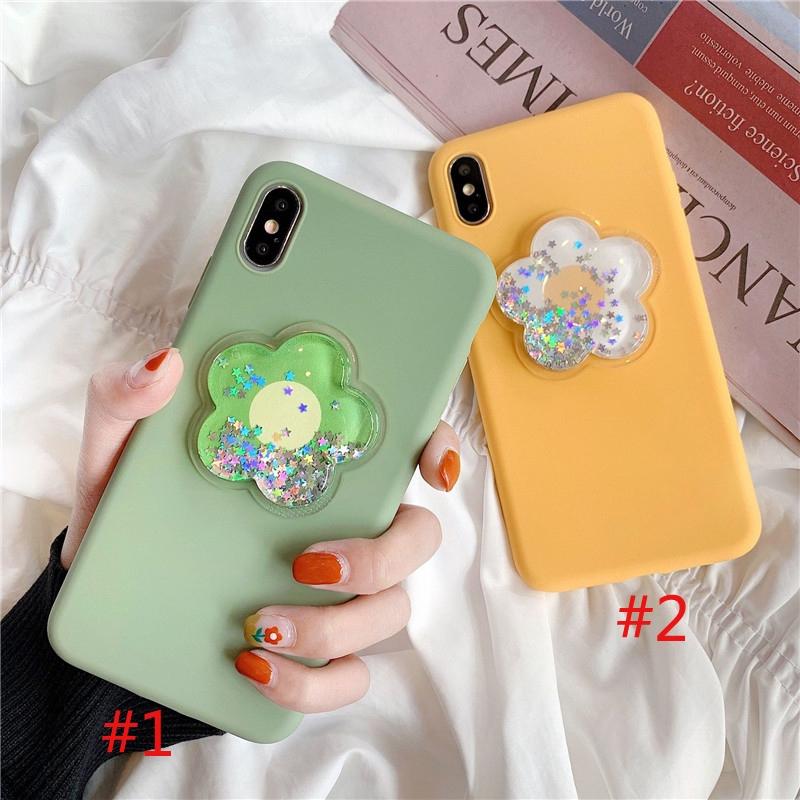 3D Liquid Flower Silicone Soft Case for iPhone 6 6s 7 8 6plus 8plus XR X XS XSMax Handphone Casing