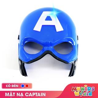 Mặt nạ hóa trang Captain America đồ chơi hóa trang cosplay halloween sinh nhật cho trẻ em lứa tuổi 3+ nhựa PP an toàn