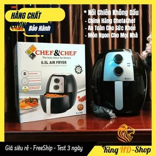 [CHÍNH HÃNG] Nồi Chiên Không Dầu Cao Cấp Chef&Chef YJ-702 6,5L Công Suất 1800W 🌺FREESHIP🌺