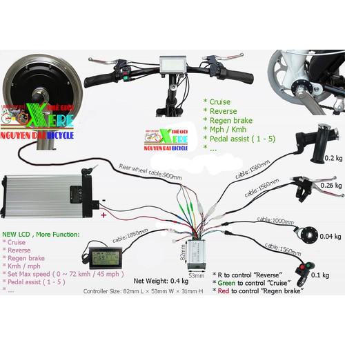 Bộ điều tốc IC đa năng xe đạp điện 350W-36V-48V - 350W-36V-48V