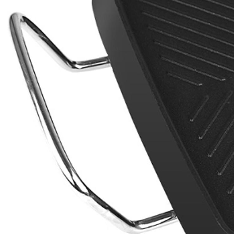 Nồi lẩu nướng điện không khói bếp lẩu nướng mặt đá hình chữ nhật đa năng công suất lớn