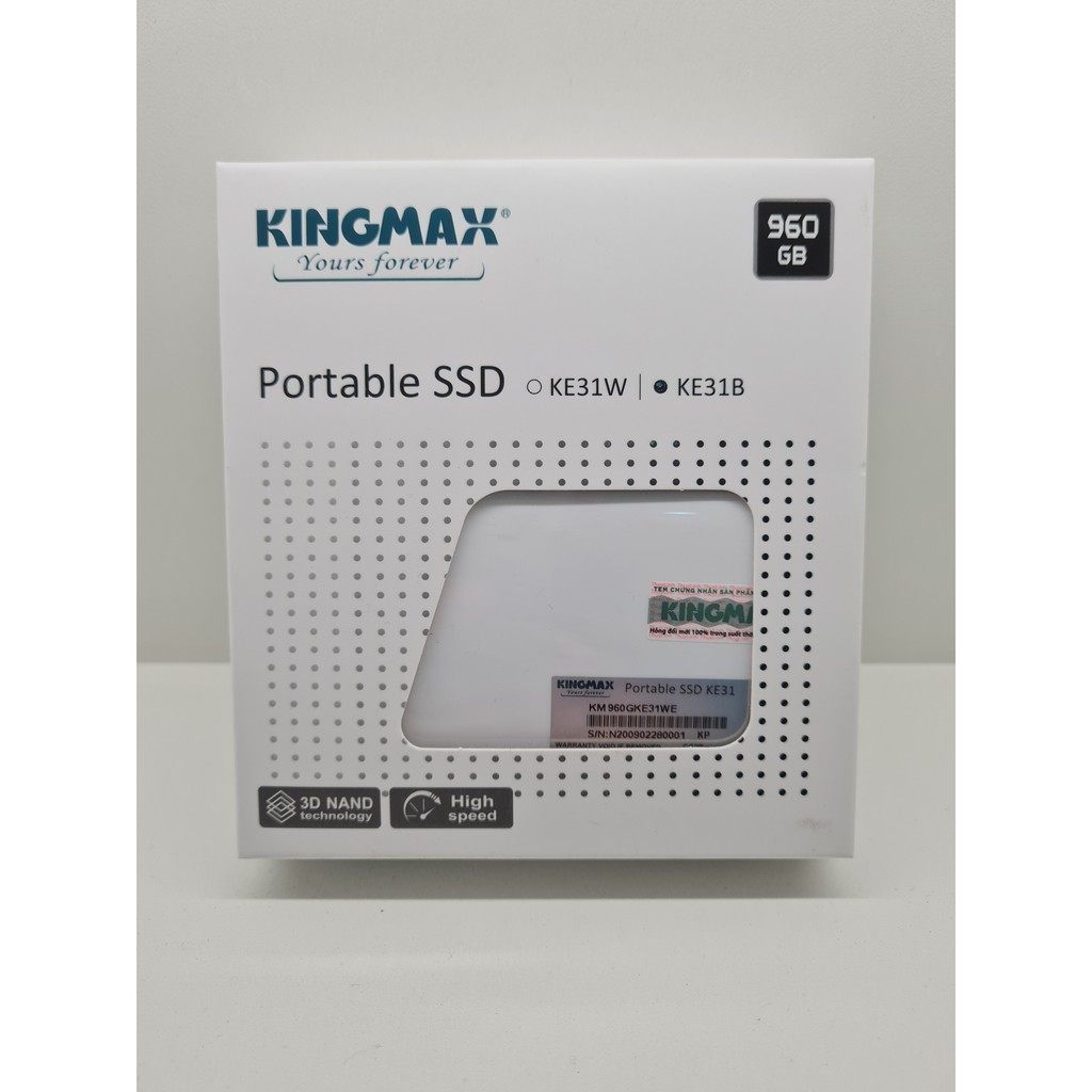 Ổ cứng di động SSD Kingmax KE31 960GB USB3.1 Siêu nhỏ chuẩn 1.8 inch