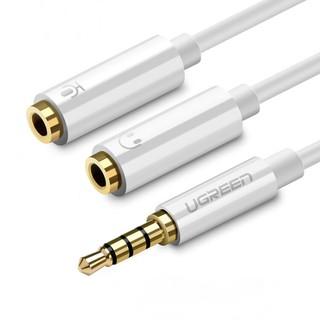 Dây chuyển đổi 3.5mm đực sang hai đầu 3.5mm cái (1 đầu hỗ trợ Mic, 1 đầu hỗ trợ tai nghe) UGREEN AV141