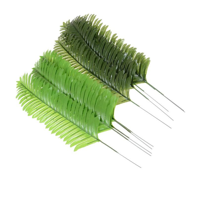 ♑LIB♑ 5pcs Lifelike Artificial Green Palm Branch Leaves Wedding Party Home Decor 38cm [OL]