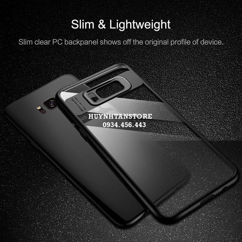 Ốp lưng Samsung Galaxy S8 _ Ốp chống sốc cao su viền dẻo màu mặt lưng trong suốt