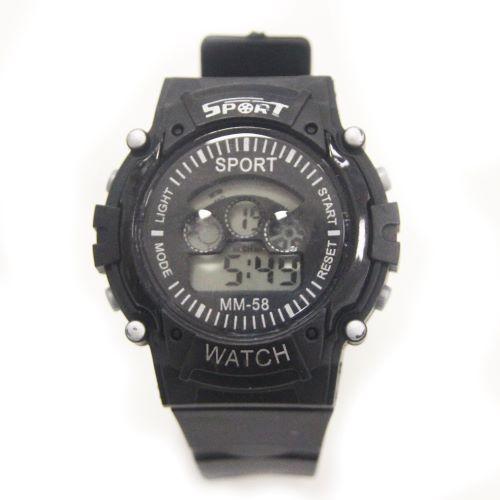 Đồng hồ thể thao kỹ thuật số BESTEST JF038 1790 nhập khẩu chống thấm nước với dây cao su màu cầu vồng sáng