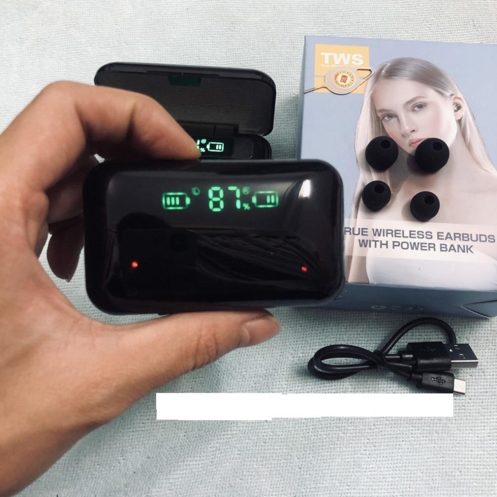 Tai Nghe Không Dây Bluetooth F9  TWS - Phiên bản cảm ứng quốc tế Bluetooth 5.0 - Nghe nhạc liên tục 5h