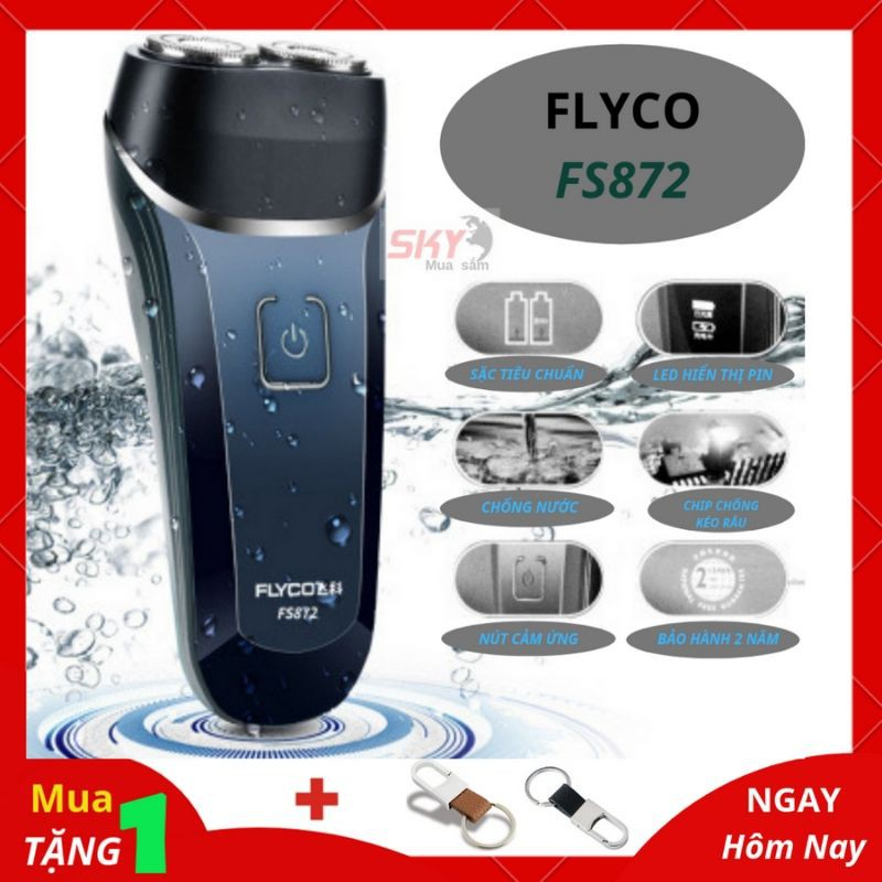 Máy cạo râu ⚜️ BH 2 năm ⚜️ máy cạo râu FLYCO FS872, FS873 chống nước cao cấp