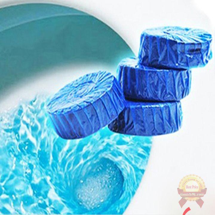 Viên tẩy bồn cầu khử mùi hôi và diệt vi khuẩn toilet toa lét Sáp làm xanh sạch nước xả chống ố vàng Hàn Quốc