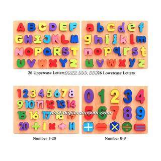 Bảng chữ in hoa, bảng chữ in thường, bảng số và phép tính