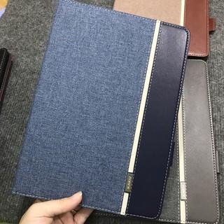 Bao Da iPad 2018 KAKU phối vân da & vải Jean cao cấp phong cách sành điệu