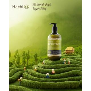 hot hot [hàng chính hãng] Cặp Dầu gội – xả Hachi Heritage tóc dầu 500ml