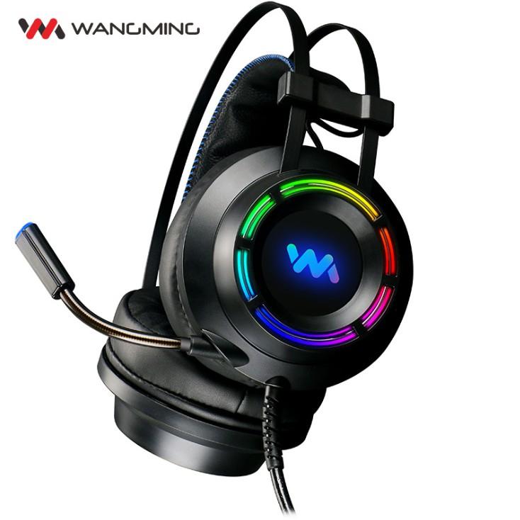 (Hàng Chính Hãng) Tai Nghe Gaming Wangming 9800s Âm Thanh Giả Lập 7.1 USB LED