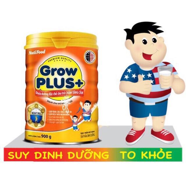 (Nhập TKBSUN2 giảm 5%) Sữa bột Nutifood Grow Plus Cam 900g HSD:2020