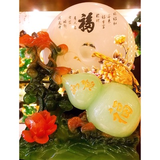 Đồng Điếu Ngọc Tài Phú và Hồ Lô hoa mẫu đơn phú quý thịnh vượng .