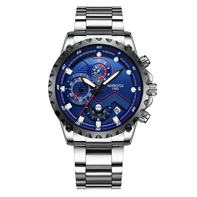 [Tặng vòng tay]Đồng hồ nam NIBOSI chính hãng NI2322.02 thép không gỉ