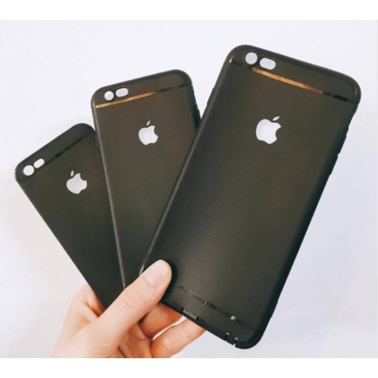 [Đã có 11 Pro Max ] Ốp trơn đen dẻo bảo vệ camera khoét táo iphone 5 5s 6 6s 6plus 7 7plus 8 8plus X Xr Xs Max