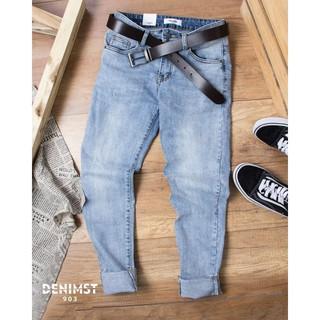 Quần jeans nam YC 903 xanh rách gấu – TT1205