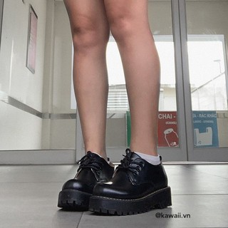 Giày ALLEY OXFORDS bằng da thắt dây cao cấp (Ảnh thật shop tự chụp)