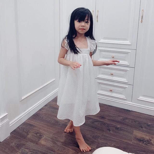 [ ẢNH, VIDEO THẬT] Váy maxi bé gái mặc được 2 kiểu