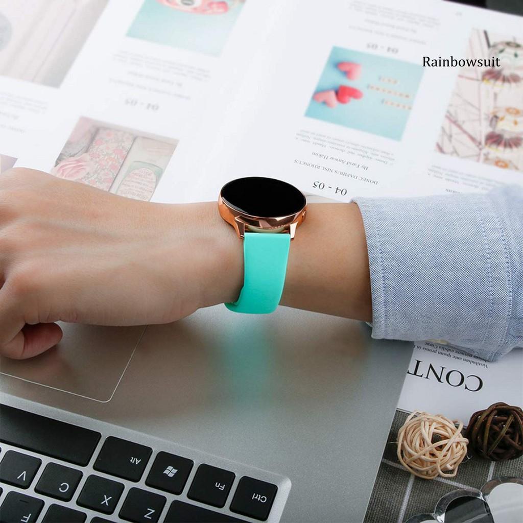 Dây Đeo Thể Thao Bằng Silicone Chống Nước Thông Dụng Cho Đồng Hồ Samsung Galaxy Watch 3 41m / Active 2 42mm